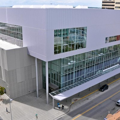Dena'ina Civic and Convention Center from Seventh Avenue