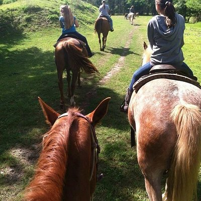 This amazing Horse back Riding place is Paradise! Its me with the