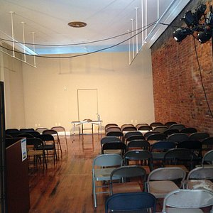 An example of a performance space during The Fringe Festival, 2014.