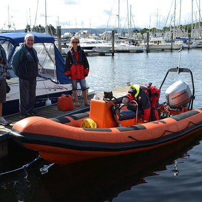 About to board at Inverkip Marina