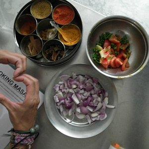 Aula de culinária indiana