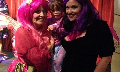 The good fairy and the bad fairy from Sleeping Beauty or the Rose Taboo play!