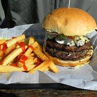 Fine burger/fries!