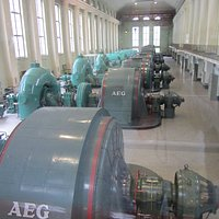 inside the hydroelectric power station