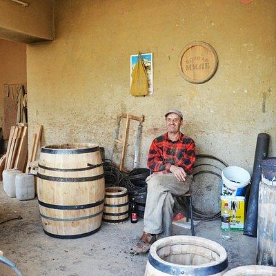 Mr Mile is owner of the generations old handmade barrel shop.
