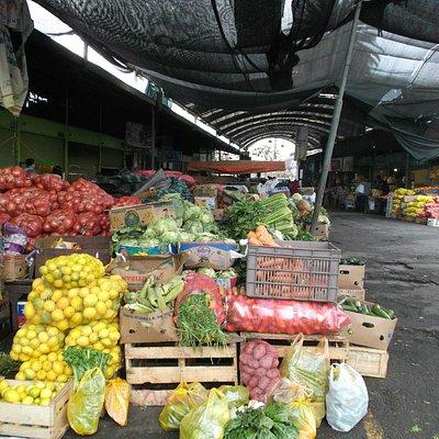 Santiago de Chile. Mercado Vega Poniente. Puesto de Frutas y Verduras.