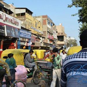 Rickshaw ride through Chandni Chowk