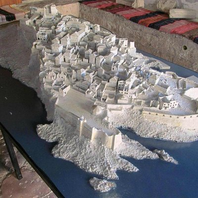 Scale model of the Old Town in the museum
