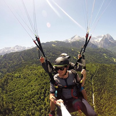 GoPro Shot soaring above the alps
