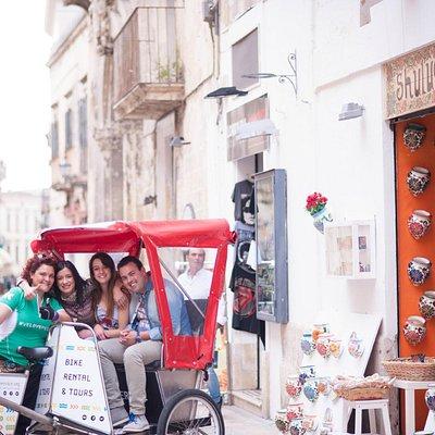 Guided rickshaw tour