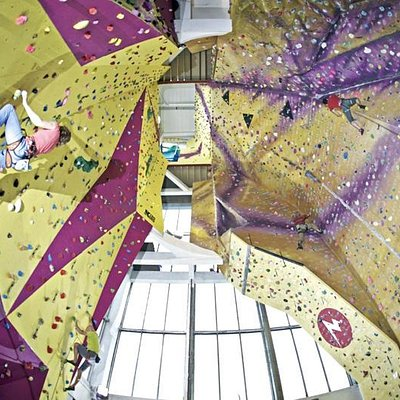 Tallest indoor climbing wall in the country.