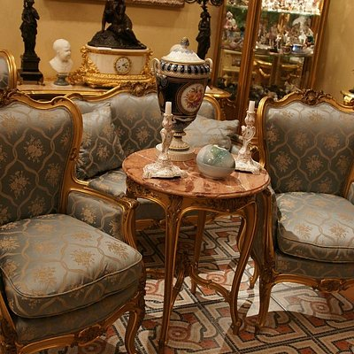 Gold rococo furniture set
