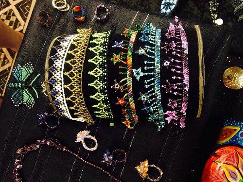 Hand beaded jewelry from Guatemala