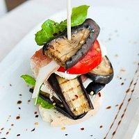 Eggplant millefoglie