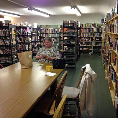Upstairs in Dudley's Book Store