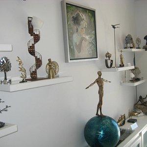 Inside Oia Treasures Art Gallery