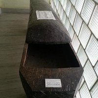 A single wood Coffin