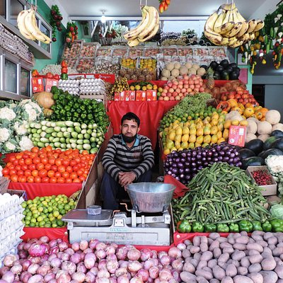 A fruit and vegetable seller