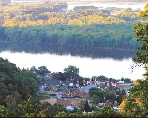 The spectacular view of the Mississippi River.