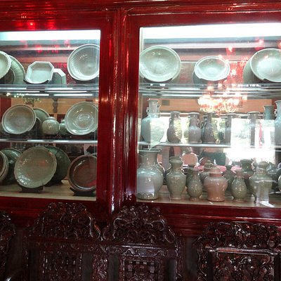 part of display in The China Room