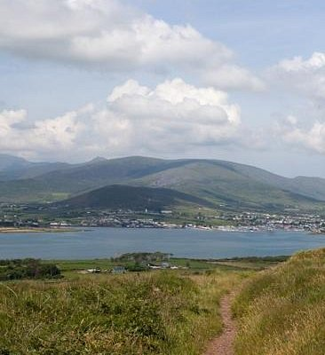 went on a horse trek with Burnham Equestrian and this is a view of Dingle from the trail we went