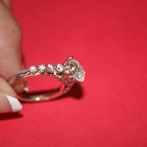 Ring losing diamond from Lapis