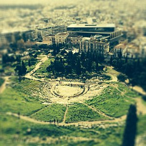 Panoramic view of the Dionysus Theater, Athens - photo by YZ