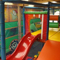 soft play area and inflatable bus
