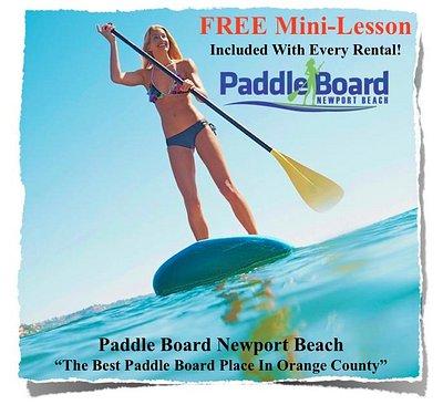 Paddle Boarding Newport Beach California