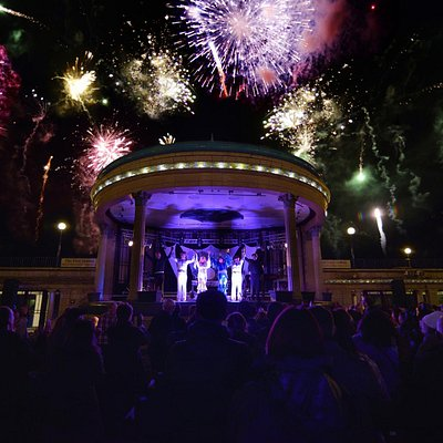 Bandstand with Fireworks