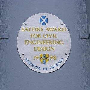 Civil engineering award to the Forth Rd Bridge, seen on West Walkway