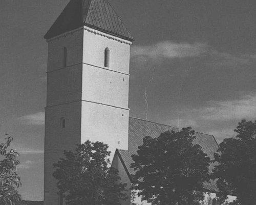 Værnes kirke bygget i årene 1085 - 1100