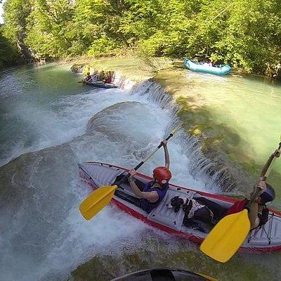 Kayaking on river Mrežnica