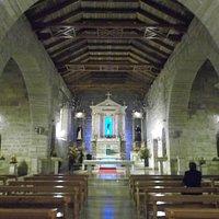 La Serena, Chile, Iglesia San Francisco. Nave Central y Altar Mayor.