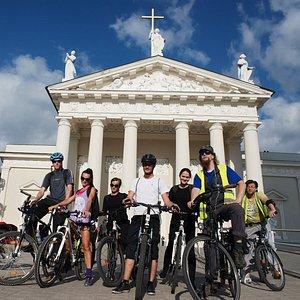 Vilnius bike tour @ Cathedral sq