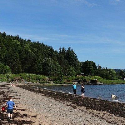 Beach at Lunderston Bay