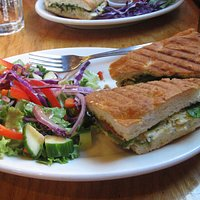 Paninis for dinner at Headlands Coffeehouse