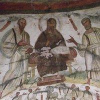 Affresco dei Santi, IV sec. d.c. Particolare