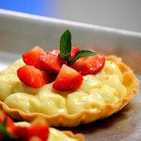 Vanilla Bean and Local Strawberry Tart