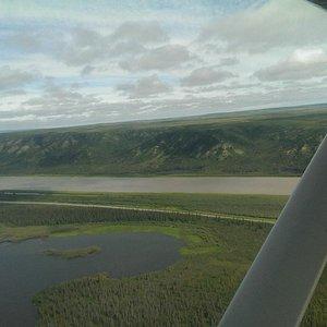Flying over the Mackenzie Delta/River