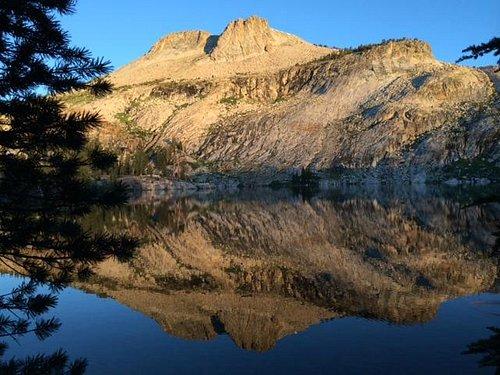 May Lake at dawn.