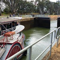 Arrive just before 11am to see the steam paddle steamer coming through. Well worth the visit.