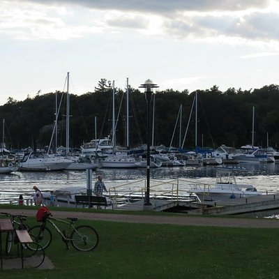 Evening marina stroll
