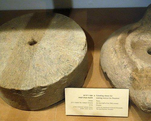 Grinding stones for making Passover matzah