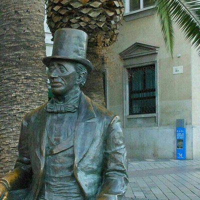 "Captivated by the beauty of Málaga, Andersen wrote ""in no other Spanish city have I been as happ"