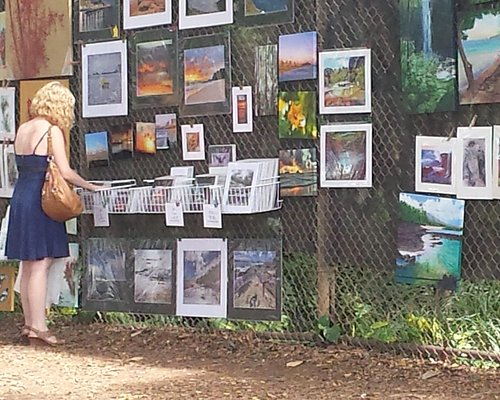 Beautiful day at Art on the Zoo Fence