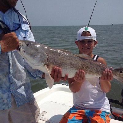 First huge redfish!  This was an awesome fight!