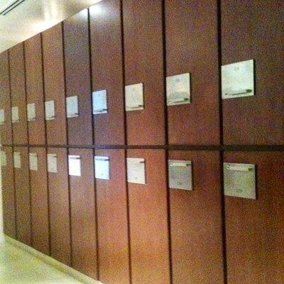 inside the locker room