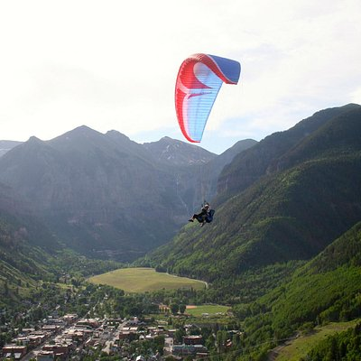 Paragliding over Telluride