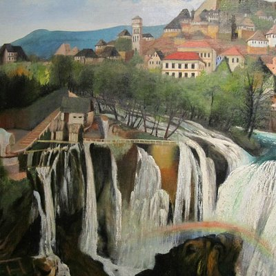 Waterfall at Jajce    (now, I think, in Bosnia)